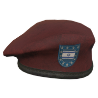 Red IL Military Beret