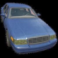 Sedan Blue Skin