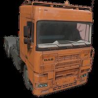Semi Truck Orange Skin