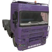 Semi Truck Purple Skin