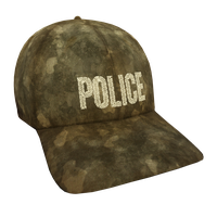Tan Woodland Police Flex Cap
