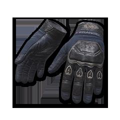Blue Biker Gloves