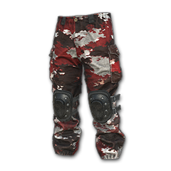 Camo Snow Pants (Red)