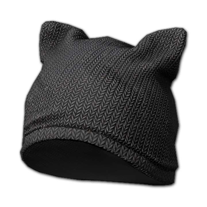 Cat Ear Beanie (Black)
