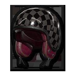 Checkered Motorcycle - Helmet (Level 1)