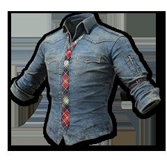 Denim Shirt with Necktie