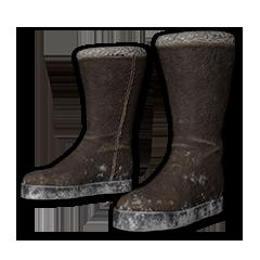 Felt Winter Boots (Brown)