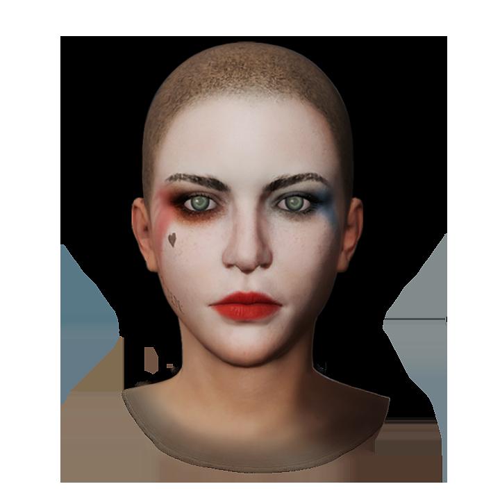 Harley Quinn's Makeup