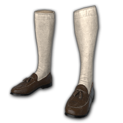 Loafers with Socks (Brown)