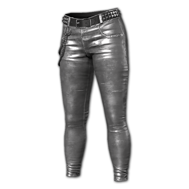 Metallic Punk Jeans (Silver)