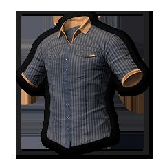 Pinstripe Short Sleeve Shirt (Gray/Gold)
