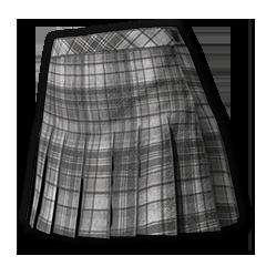 Plaid Skirt (Flannel Gray)