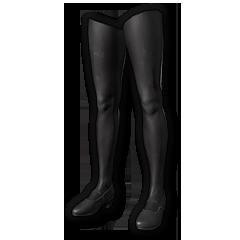 School Shoes with Leggings (Black)