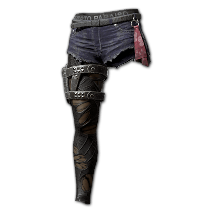 Smoke Stalker Shorts with Ripped Leggings