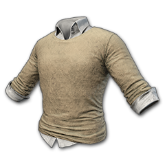 Sweater and Dress Shirt (Beige)