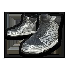 White Tiger Hi-top Sneakers
