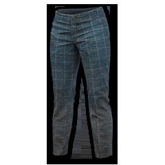 Windowpane Check Pants (Blue)