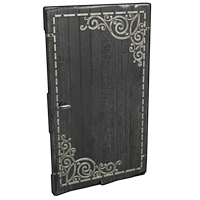Black Decorative Wood Door
