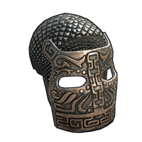 Bronze War Mask