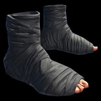 Burlap Ninja Slippers