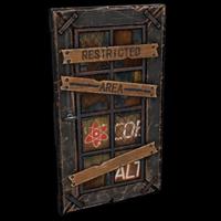 Cobalt Wooden Door
