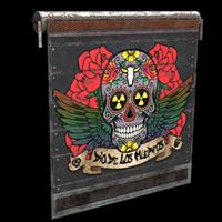 Dia De Los Muertos Garage Door
