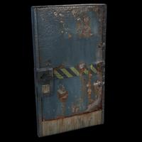 Hazard Metal Door
