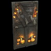Hell-o-ween Wooden Door