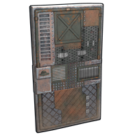 Metalshop Scrap Door