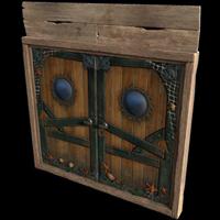 Pirate Ship Wooden Double Door