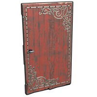 Red Decorative Wood Door