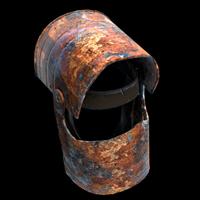 Rusty Coffee Can Helmet