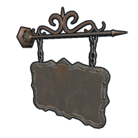 Two Sided Ornate Hanging Sign
