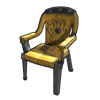 Yellow Ornate Chair